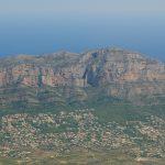 Vista aérea del Montgó (foto ESTEPA).