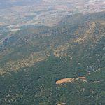 Vista aérea del carrascal de la Font Roja (foto ESTEPA).