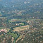 Vista aérea del río Cabriel (foto ESTEPA).
