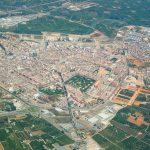 Vista aérea de Alzira (foto ESTEPA).