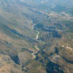 Vista aéreas del Barranc de l'Infern (foto ESTEPA).