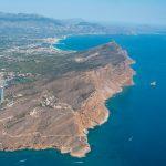 Vista aérea de los acantilados de la Serra Gelada (foto ESTEPA).