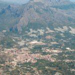 Vista aérea de Callosa d'en Sarrià y sus campos (foto ESTEPA).
