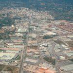 Vista aérea de los poligonos de la Plana (foto ESTEPA).