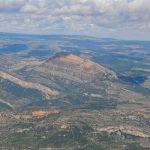 Vista aérea del Penyagolosa (foto ESTEPA).