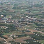 Vista aérea de las parcelas agricolas de l'Horta (foto ESTEPA).