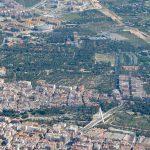Vista aérea de Elx (Miguel Lorenzo).