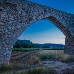 Detalle del acueducto de los Arcos, Alpuente (foto Pep Pelechà).