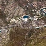 Vista aérea del salto de Millares (foto ESTEPA).