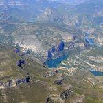Vista aérea del Embalse de Cortes II (foto ESTEPA).