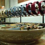 Carretes de seda (foto Museo de la Seda en Moncada).