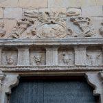 Detalle de la puerta de los 4 evangelistas de la iglesia de Santa María Magdalena de Villafranca del Cid (foto Adela Talavera).