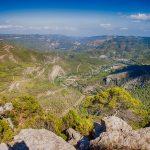 Paisajes de Montanejos y la Alquería desde el pico Morrón. El río Mijares desde el término de Montanejos (foto Pep Pelechà).