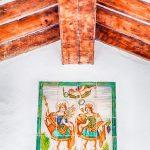 Azulejos en la Ermita dels Sants de Pedra (foto Pep Pelechà).