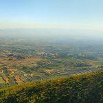 Vall d'Albaida desde la Ombria del Benicadell (foto Miquel Francés).