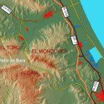 Entre la Valldigna y la huerta de Gandia y cerrando la marjal de Xeraco-Xeresa, se levanta este macizo litoral cuya altura y silueta destaca sobre el golfo de Valencia. La cima principal corresponde al Mondúver (841 m), seguida de otras subordinadas (El Toro, 607 m; el Picaio-Aldaia, 728 y 734 m; la Falconera 495 m, […]