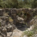 Puente de piedra en seco en el Barranc dels Molins, Ares del Maestrat (foto ESTEPA).