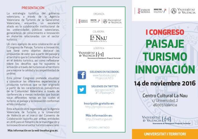 I Congreso de Paisaje, turismo e innovación